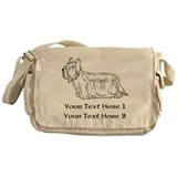 Skye Terrier. Custom Text Messenger Bag