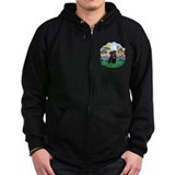 Bright Life - Black Pug #13 Zip Hoody