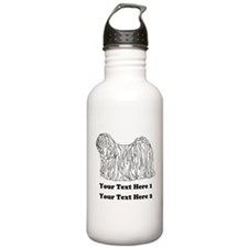 Hungarian Puli. Your Text. Water Bottle