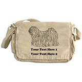 Hungarian Puli. Your Text. Messenger Bag
