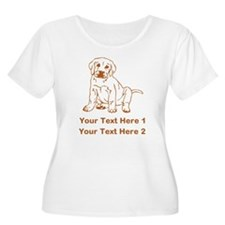 Brown Labrador Puppy. T-Shirt