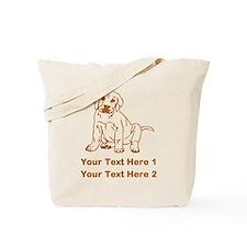 Brown Labrador Puppy. Tote Bag