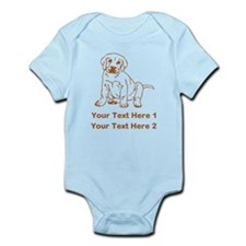 Brown Labrador Puppy. Infant Bodysuit