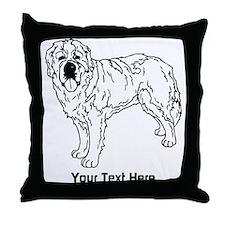 St Bernard, Dog with Text. Throw Pillow
