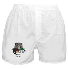 Custom Owl Graduate Boxer Shorts