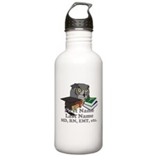 Custom Owl Medical Graduate Water Bottle