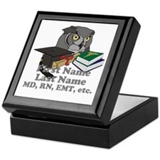 Custom Owl Medical Graduate Keepsake Box