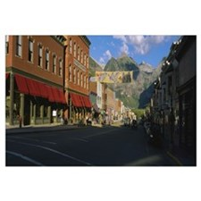 Street through a town, Telluride, Colorado