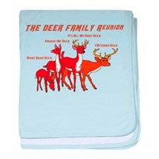 Deer Family Reunion baby blanket