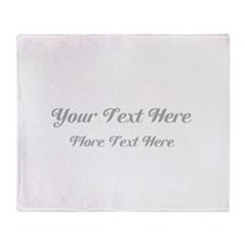 Elegant Gray Custom Text. Throw Blanket