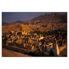 High angle view of a village, Tamerza, Tunisia