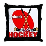 Rednexk Hockey Throw Pillow