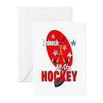 Rednexk Hockey Greeting Cards (Pk of 10)