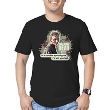 Zombie Apocalypse Walking Dead Men's Fitted Tee