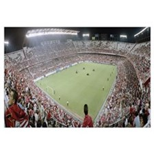 Crowd in a stadium, Sevilla FC, Estadio Ramon Sanc