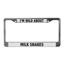 Wild About Milk Snakes License Plate Frame