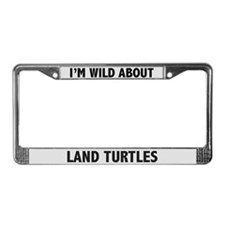 Wild About Land Turtles License Plate Frame