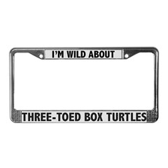 Three-Toed Box Turtles License Plate Frame