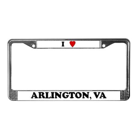 I Love Arlington License Plate Frame
