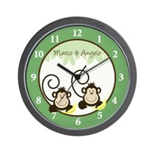 Silly Monkeys Wall Clock - Marco and Angelo