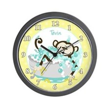 Monkey in Tub Wall Clock - Tevin