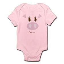 Cute Little Piggy's Face Infant Bodysuit