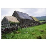 Rustic stone farmhouse, rural Ireland.
