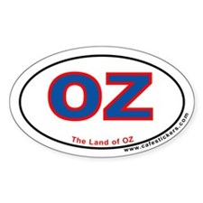 The Land Of OZ Oval Decal
