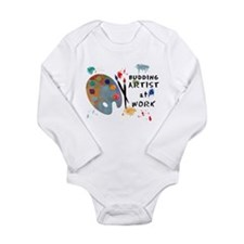 Artist At Work Long Sleeve Infant Bodysuit