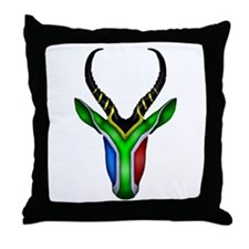 Springbok Flag Throw Pillow