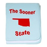Oklahoma: The Sooner State baby blanket