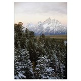 Autumn snow on Grand Teton mountains, Grand Teton
