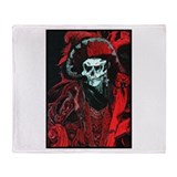 La Mort Rouge - Red Death Throw Blanket