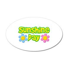 Sunshine Day 38.5 x 24.5 Oval Wall Peel