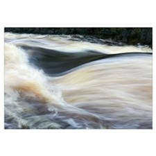 Water rushing on Rapid River, close up, Minnesota