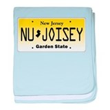 NU JOISEY, New Jersey, License Plate baby blanket