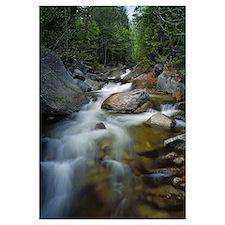 Waterfalls and rocks on Abol Stream, Baxter State