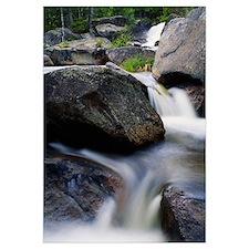 Water cascading over rocks, Nesowadnehunk Stream,