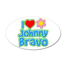 I Heart Johnny Bravo 38.5 x 24.5 Oval Wall Peel