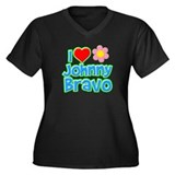 I Heart Johnny Bravo Women's Dark Plus Size V-Neck