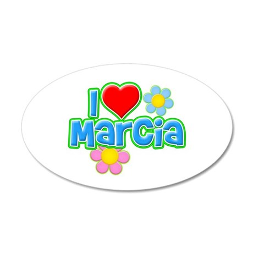 I Heart Marcia 38.5 x 24.5 Oval Wall Peel