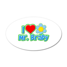 I Heart Mr. Brady 38.5 x 24.5 Oval Wall Peel