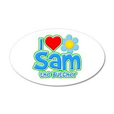 I Heart Sam the Butcher 22x14 Oval Wall Peel