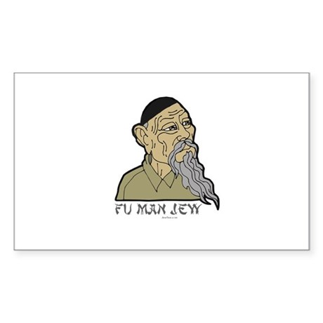 Fu Man Jew Sticker (Rectangle)