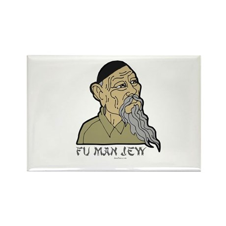 Fu Man Jew Rectangle Magnet