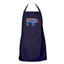 Pigs of Many Colors Apron (dark)