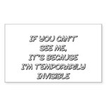 Temporarily Invisible Sticker (Rectangle 10 pk)