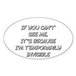 Temporarily Invisible Sticker (Oval 10 pk)