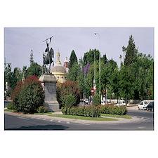 Bronze statue of El Cid on horseback, Seville, Sev