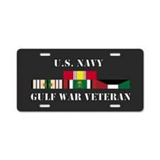 Navy Gulf War Vet 2 Stars Aluminum License Plate